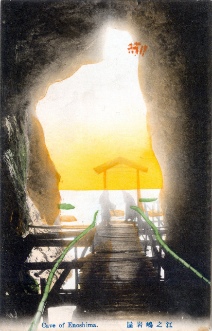 Cave of Enoshima, c. 1910.