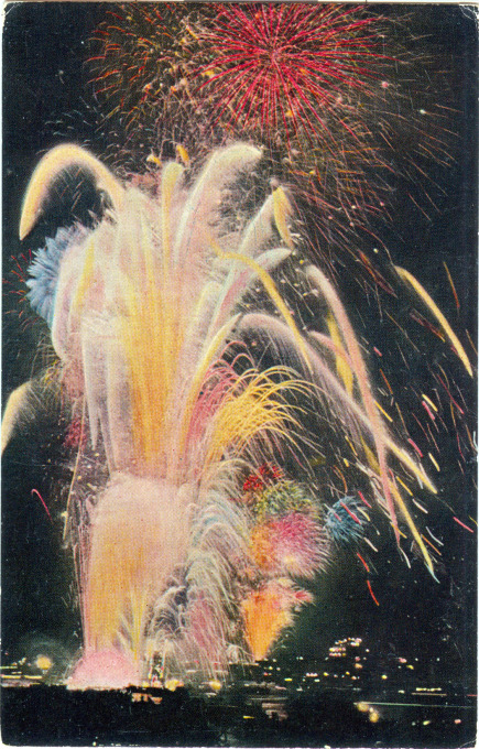 Sumida River fireworks, c. 1940.