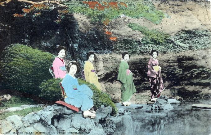 Jeunes Filles d'Honmoku (Girls of Honmoku), c. 1910.