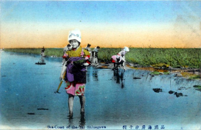 Sea-coast farming, Shinagawa, c. 1910.
