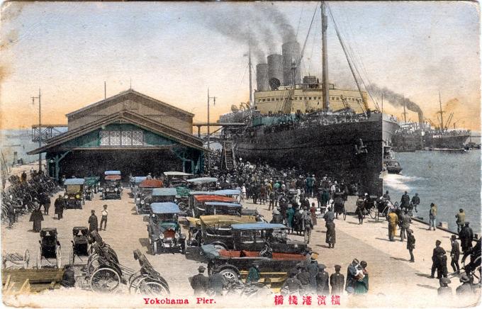 Yokohama Pier, c. 1920.