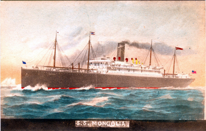 S.S. Mongolia (Pacific Mail Steamship Co.), c. 1910.