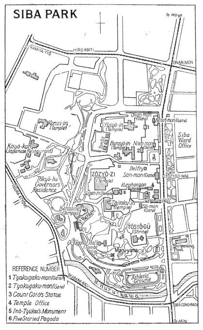 Map: Shiba Park
