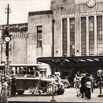 Shinjuku Station, south entrance, c. 1930.
