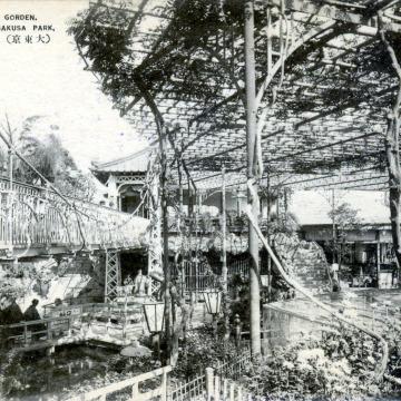 Hanayashiki Garden, at Asakusa Park, Tokyo, c. 1920.