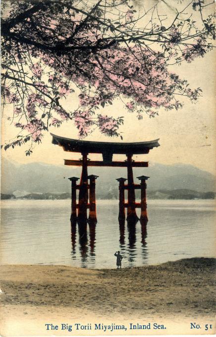 Big Torii, Miyajima, Istukushima, c. 1910.
