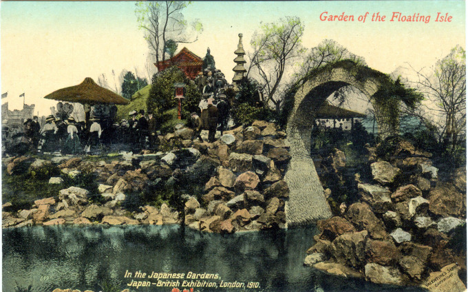 Garden of the Floating Isle, In the Japanese Gardens, Japan-British Exhibition, London, 1910.