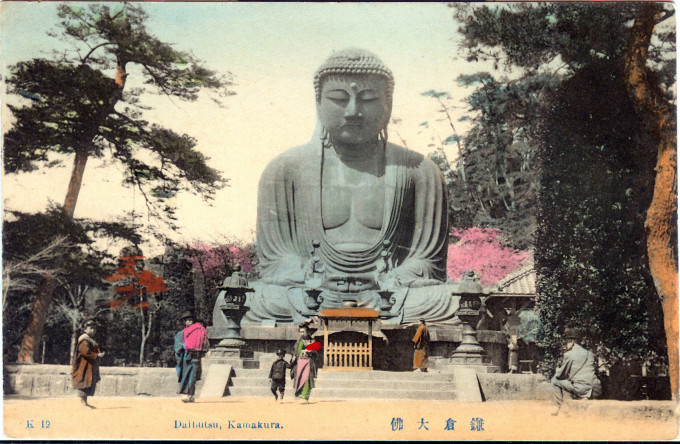Daibutsu at Kamakura, c. 1910.