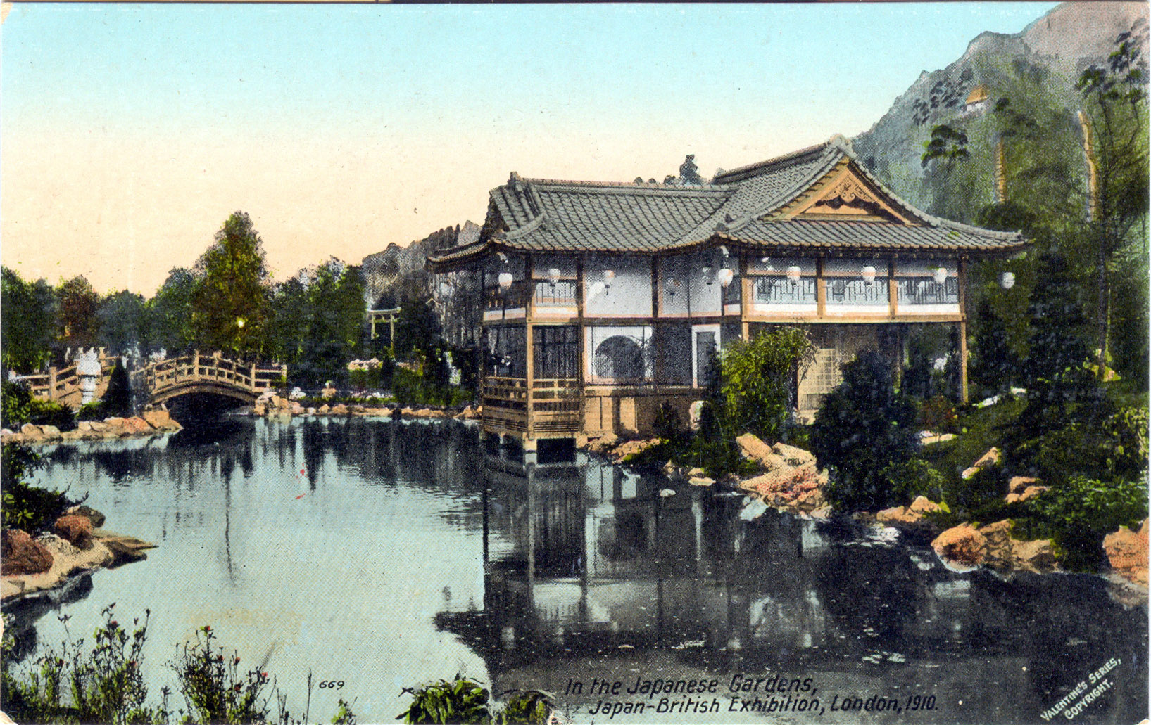 In The Japanese Gardens, Japan British Exhibition (1910)