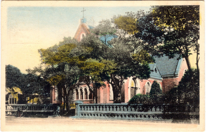The Cathedral (Sei ko kwai) in Tokyo, c. 1920.