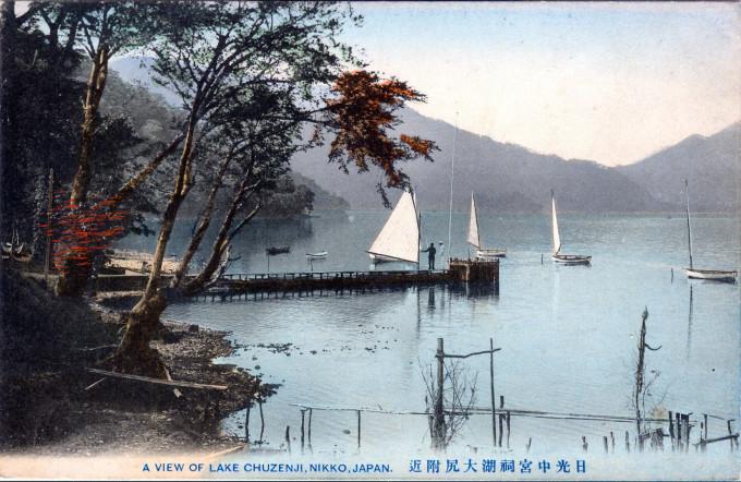 A view of Lake Chuzenji, Nikko, c. 1910.