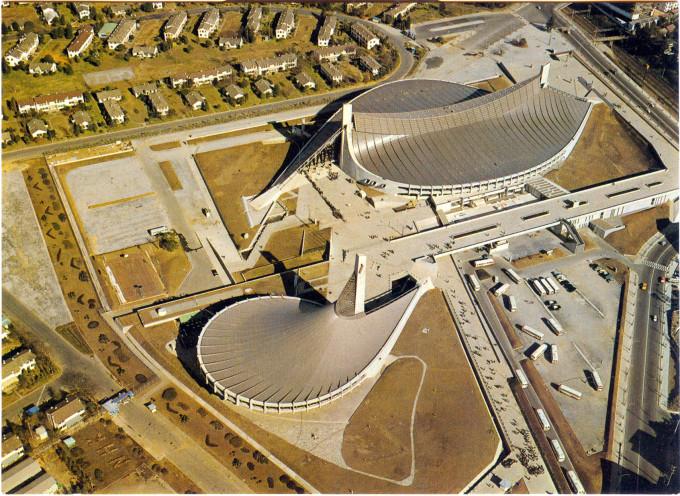 Yoyogi National Gymnasium, Tokyo Olympics, 1964.