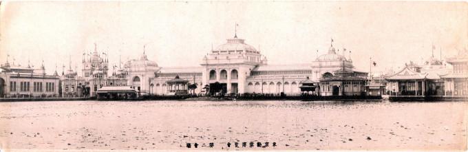 Meiji Industrial Exhibition Main Hall, Shinobazu Pond, 1907.