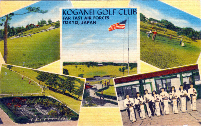 Koganei Golf Club, established by the Occupation forces, c. 1950.