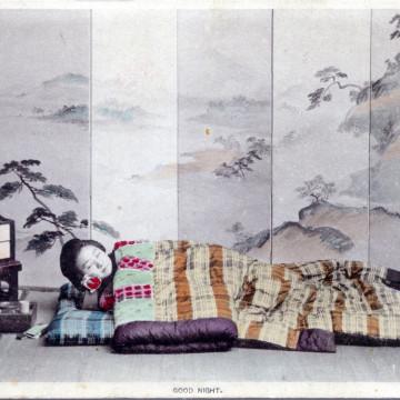 Good night, c. 1905. Futon on tatami.