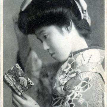 French pompadour coiffeure, c. 1910.