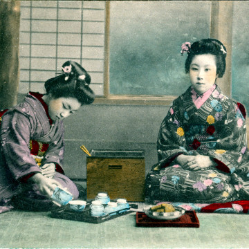 Tea time, c. 1910.