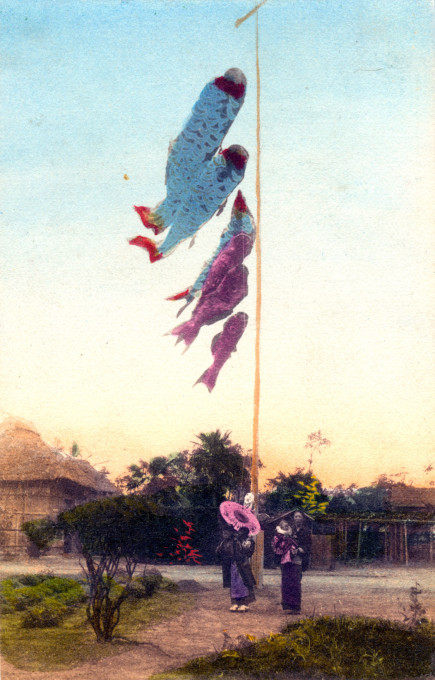 Koi banners for Boys' Day, c. 1910.