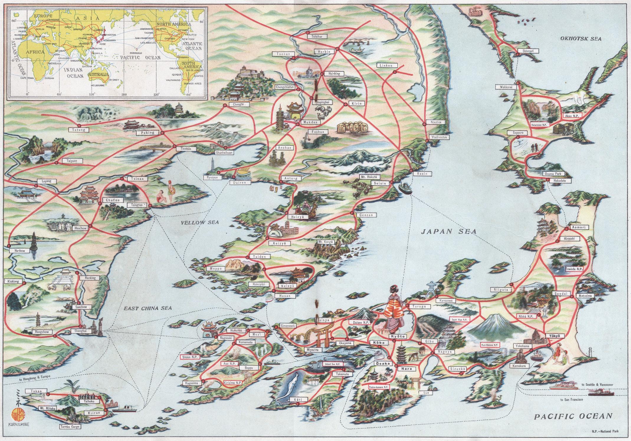 Map Tokyo Old Tokyo - Japan map 1945