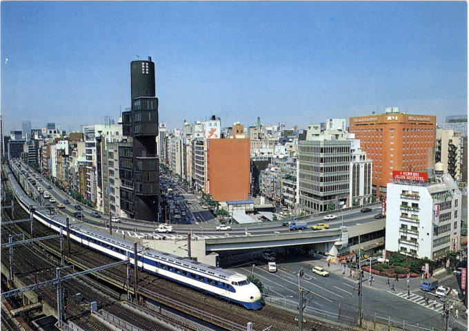 Shimbashi, elevated view, c. 1970.