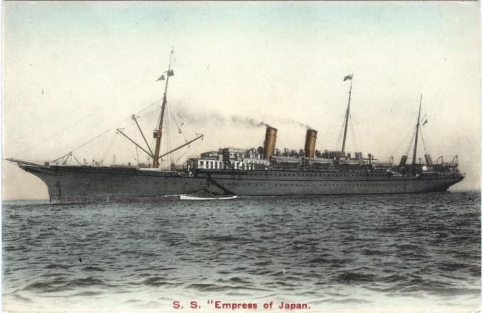 S.S. Empress of Japan, c. 1910.