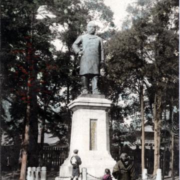 Mounment of Count Goto at Shiba Park, Tokyo, c. 1910.