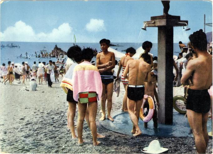 Enoshima/Fujisawa beach, c. 1960.