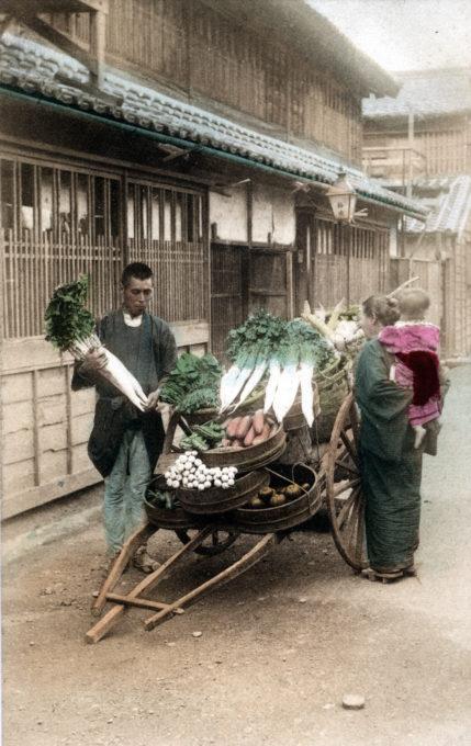 Vegetable vendor, c. 1910.