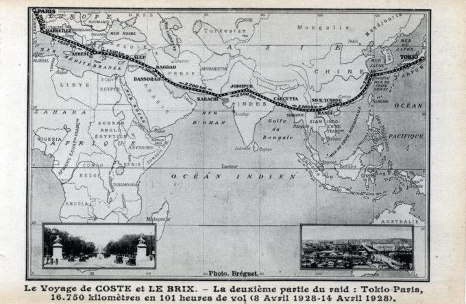 Tokyo-Paris route, 1928.