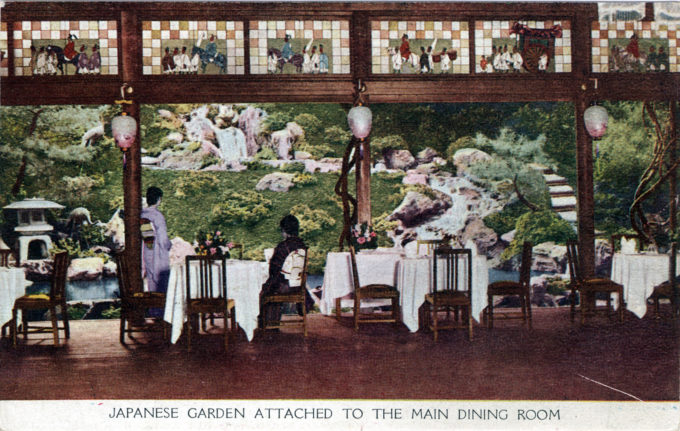 Dining room, Miyako Hotel, c. 1930.