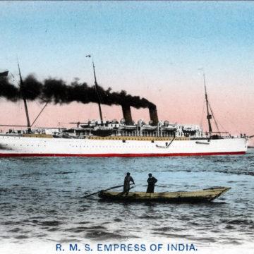 RMS Empress of India, c. 1910.