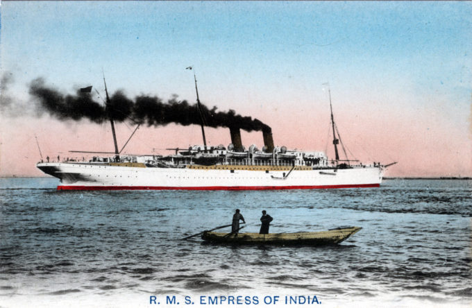 RMS Empress of India, c. 1910.