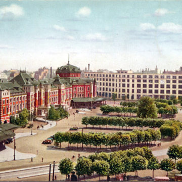 Tokyo Station plaza & Central Post Office, c. 1930.