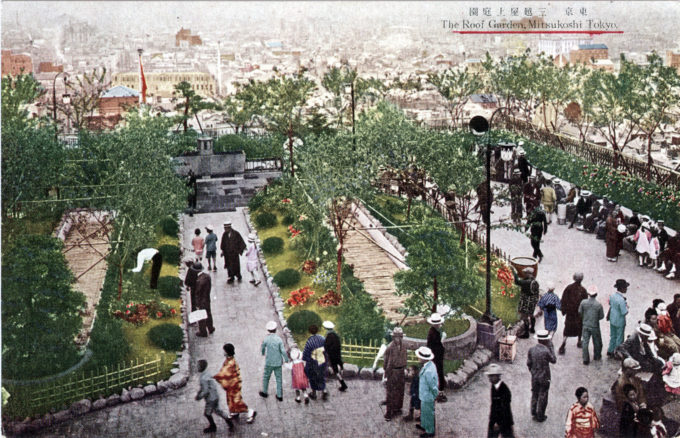 Roof garden, Mitsukoshi department store, c. 1930.