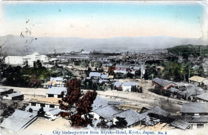 View of Kyoto from Miyako Hotel, Kyoto, c. 1910.