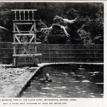Swimming pool, Fujiya Miyanoshita Hotel, Hakone, c. 1930.