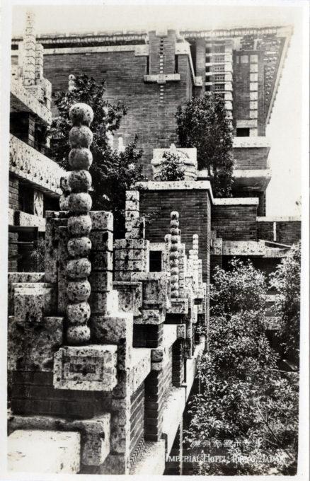 Exterior stonework, Imperial Hotel, c. 1930.