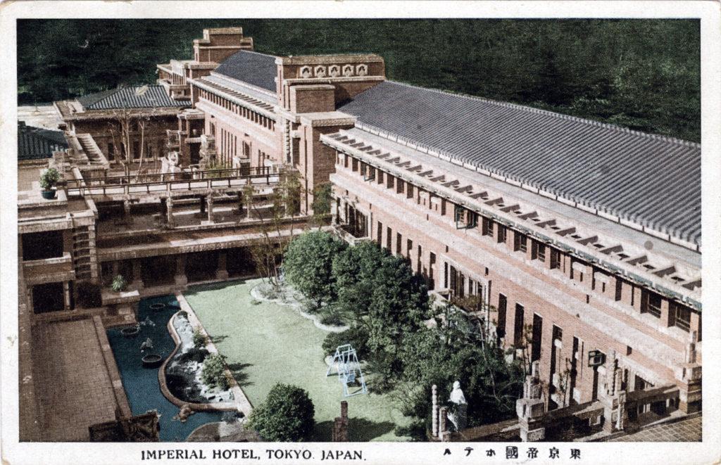 Inner garden, Imperial Hotel, Tokyo, c. 1940.