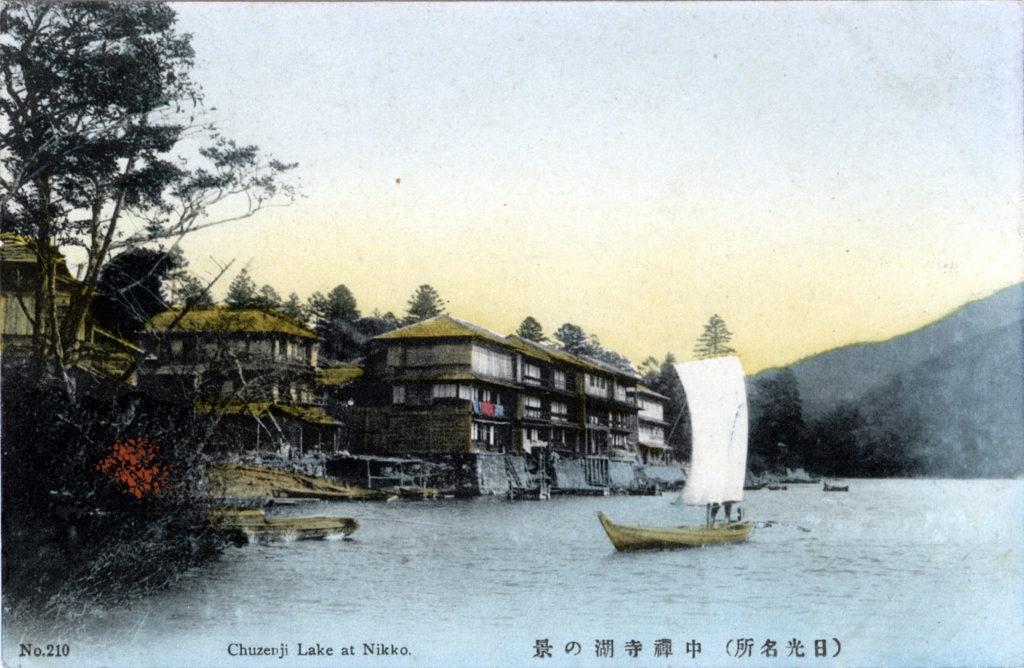 Lake-View Hotel & Chuzenji Lake, Nikko, c. 1910.