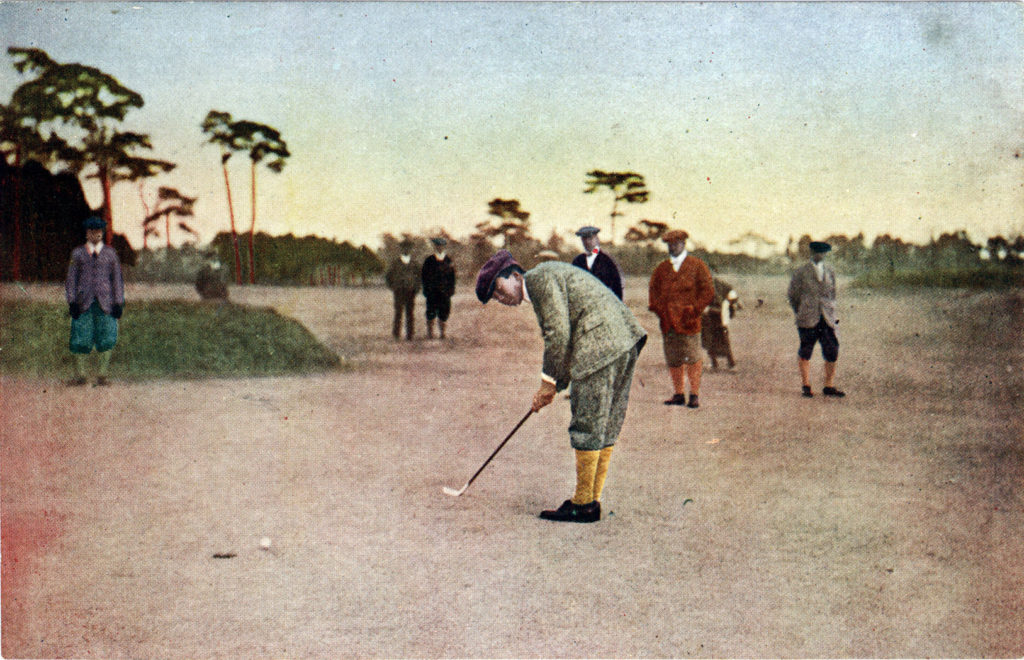 Golfing in Japan, c. 1930.