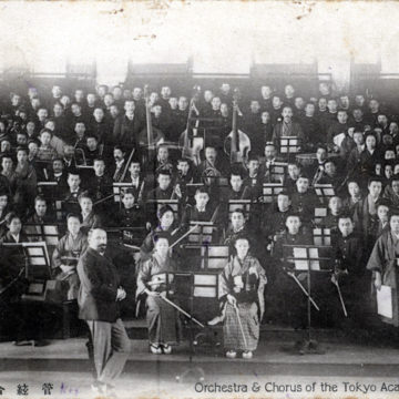 Orchestra & Chorus, Tokyo Academy of Music, c. 1910.