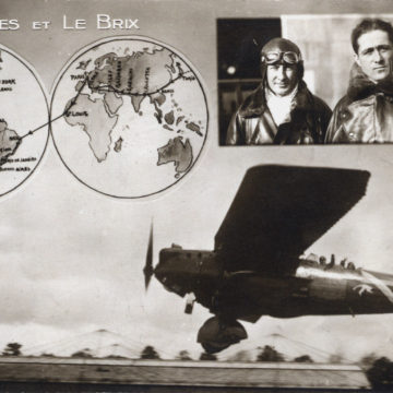 Costes & Le Brix, 1928, and their Breguet 19 G.R. Nungesser-Coli aircraft.