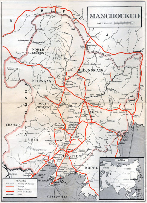 Map: South Manchurian Railway, 1932.