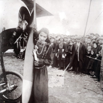 Katherine Stinson in Tokyo, c. 1916.