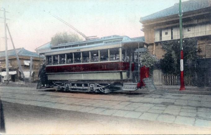 Tokyo streetcar, c. 1910.