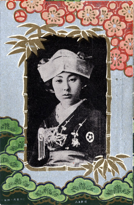 Teruha, the Nine-fingered geisha, Art nouveau motif, c. 1910.