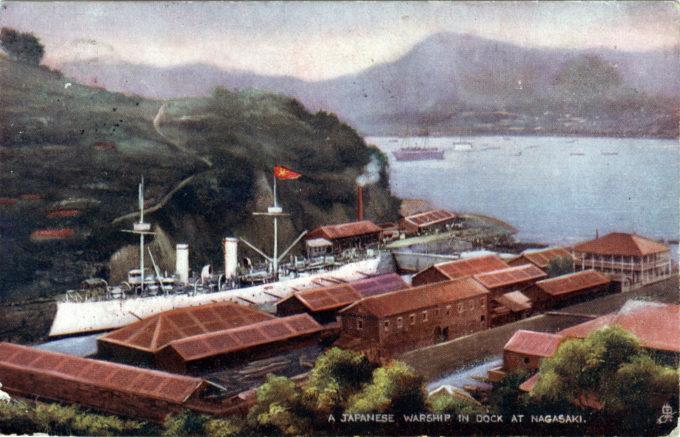 Mitsubishi dockyard, Nagasaki, c. 1910.